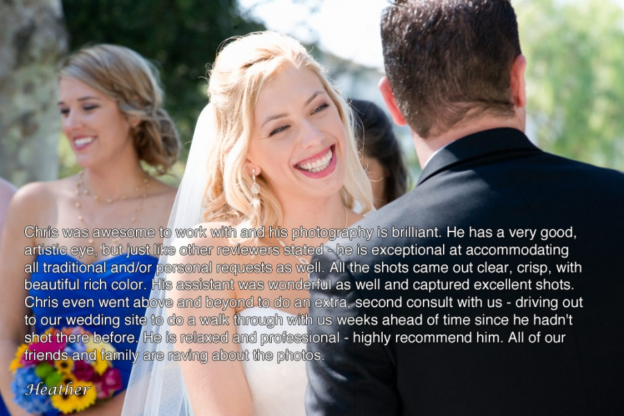 Brides wedding review