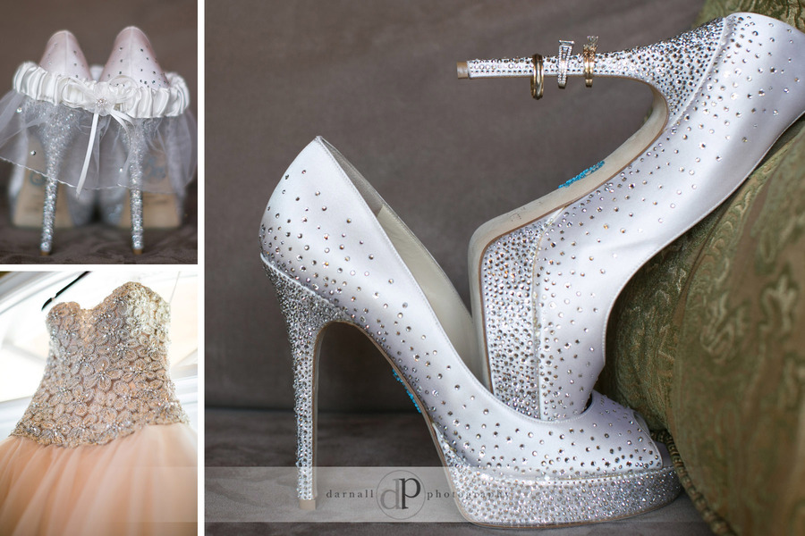 Wedding shoes and ring picture